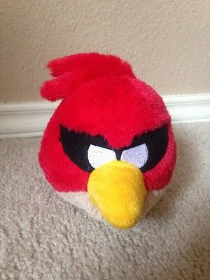 "Angry Birds Space Plush without Sounds Red Bird 7"" Rovio Licensed Doll Toy NWOT"
