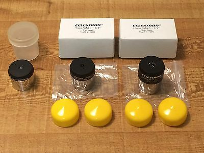 Celestron telescope eyepiece lot 10mm & 6mm SMA Wide Angle, 4mm Plossl 1.25""