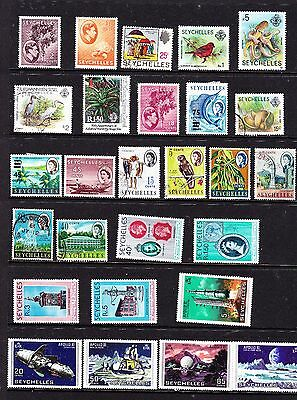 Seychelles stamps - 27 MUH, MH & Used