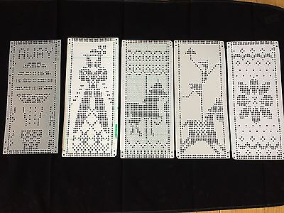 Knitting Machine Punch Cards Prepunched Hot Air Balloon Woman Horse Flower
