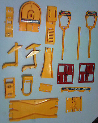 vintage Corgi Rockets track accessories, crossover, jump, hairpin, parts spares