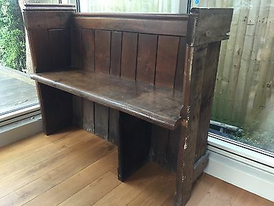 Small Antique Church Pew Victorian Arts & Crafts