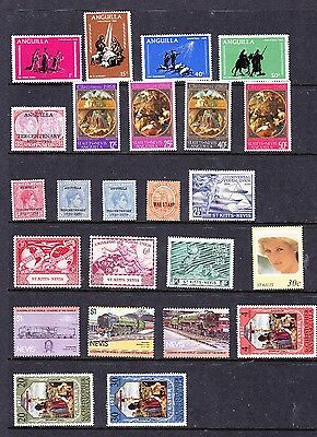 Anguilla, Nevis & St Kitts stamps - 24 MUH & MH