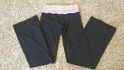 lululemon yoga pants purple and black size 4