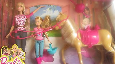 NEW  BARBIE & Sister RIDING LESSONS BIRTHDAY GIFT
