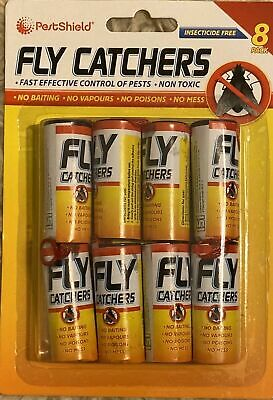 Fly Insect Insects Bugs Wasp Poison Free Sticky Papers Traps Catchers Pack of 10