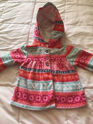Barely Worn! Baby Girl Carter's Fleece Jacket Size 12 Months