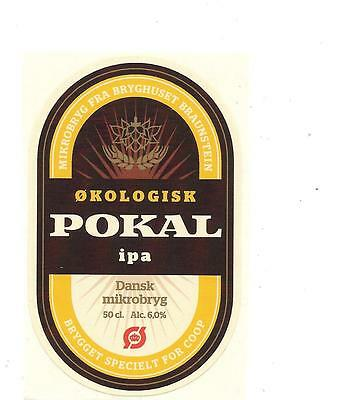 Danish Micro Brewery Beer Label Coop Pokal IPA