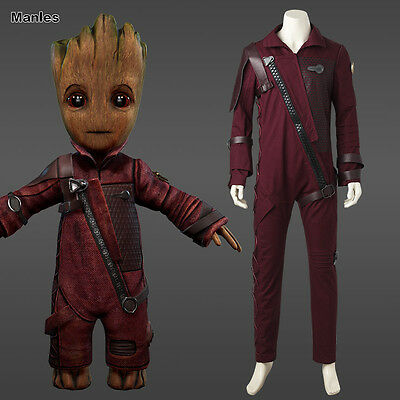 Guardians of the Galaxy Vol 2 Cute Baby Groot Costume Cosplay Jumpsuit Outfit