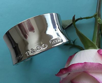 Tiffany & Co. Wide Cuff Sterlingsilber Armband Bracelet 1837 Collection
