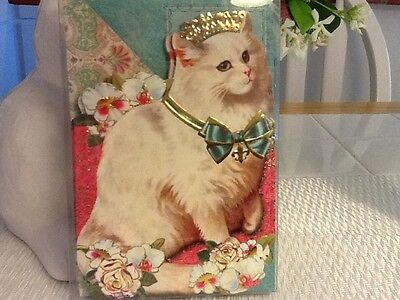 Punch Studio Queen Cat Blank Notecards with Matching Envelopes Set of 10