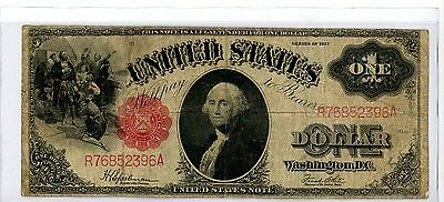 Large 1917 $1 One Dollar Bill Big United States Legal Tender Note #396A