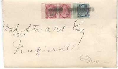 1902 Montreal, Que. Registered Cover 2c Pair + 5c QV Numeral Issues