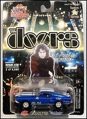 The Doors Jim Morrison 68 Blue Lady Ford Mustang Die Cast Car Racing Champions