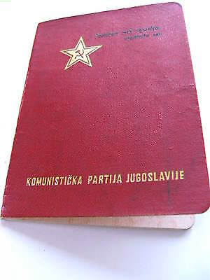 Alliance of Communists  Yugoslavia  book document member card 1949 after WWII