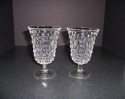 2 Fostoria American Clear Low Water Goblets