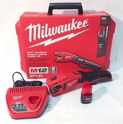 Milwaukee 2471-21 NEW M12 12 Volt Lithium-Ion Cordless Copper Tubing Cutter Kit