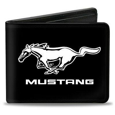 Leather style PU wallet Running Pony Ford Mustang American billfold - dad gift!