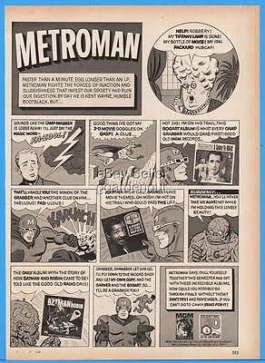 1966 Metroman MGM Records Leo Lion Comic Strip Batman Robin Bogie Ad