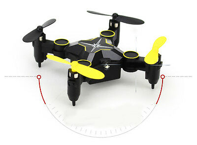 New Black Mini Folding Remote Control Four Axis Aircraft Electronic Toy Gift