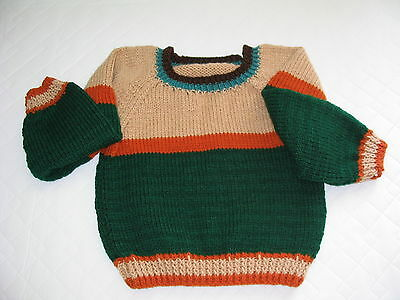 Child's Multicolor Knitted Pullover Sweater