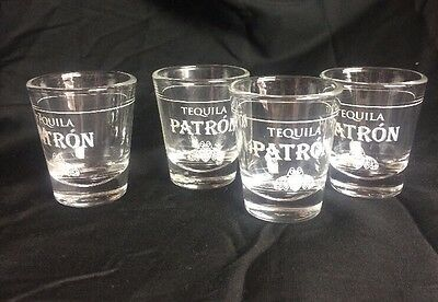 Patron Tequila Shot Glasses (Set Of 4)