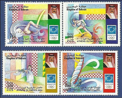 Bahrain Mnh 2004 Athens Olympics Jeux Olympiques Running Athletic Game Games