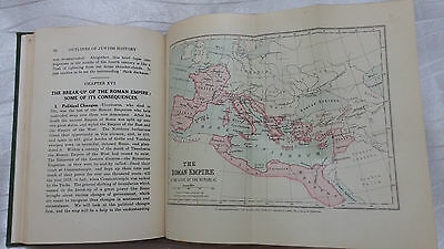 Vintage Book Outlines of Jewish History By Magnus London 1931 Bookseller Station