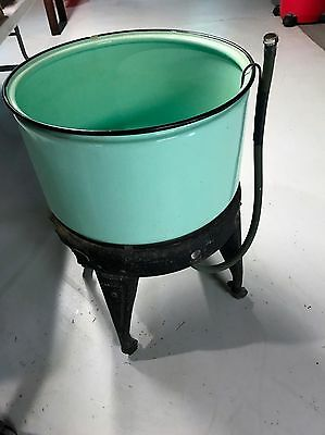 Large Tub For Us With  A Vintage Maytag Wringer Washer