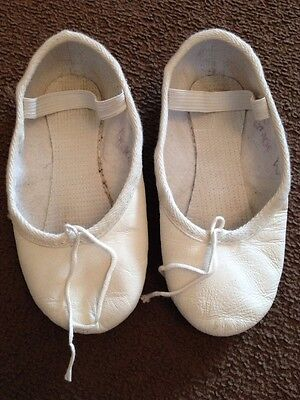 Girls White Ballet Shoes Size 9.5