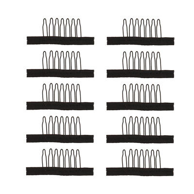 10Pieces 7 Teeth Hair Lace Wig Insert Combs Wig Cap Clips Wigs Accessories S