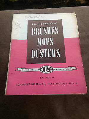Vintage Silver Chamberlin Co. Clayton NJ BRUSHES, MOPS, DUSTERS Catalog