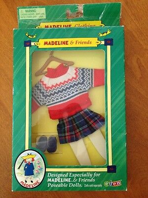 Madeline & Friends Doll Clothes Outfit 2001 Sweater Skirt Shoes Tights