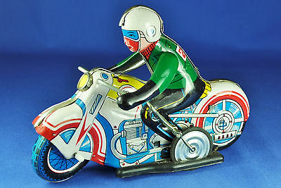 Blechspielzeug Motorrad / Tin Wind-Up Toy Motorcycle MS-702, China, 1960-1970