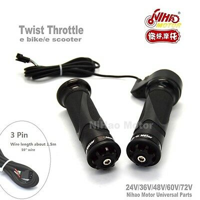 eBike Twist Speed Throttle 24V 36V 48V 72V Universal Electric Scooter e Bicycle