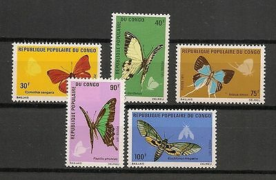 CONGO PRC (Brazzaville), SC 257-261, 1971 Butterflies issue. Comp set of 5. MNH.
