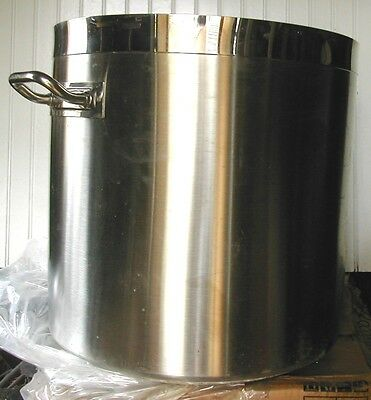 104 Qt~26 Gal Stockpot Stainless Steel Stock/Brewer/Brewing Pot 3 Ply Induction
