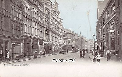 Leicester Granby Street . Printed Card  c.1900/10