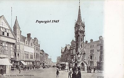 Leicester Clock Tower . Printed Card  c.1900/10
