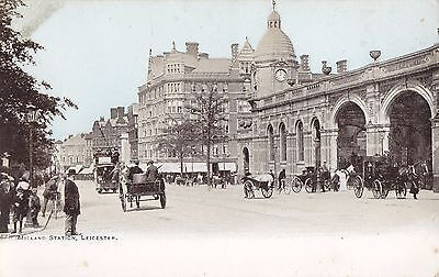 Leicester Midland Station . Printed Card  c.1900/10