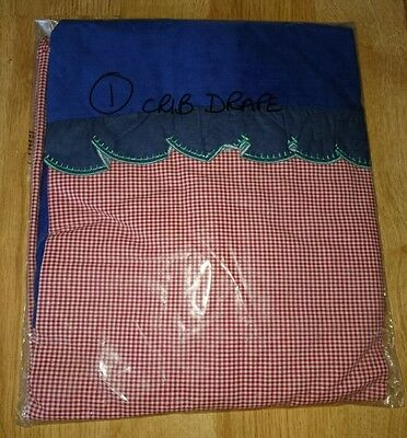BNIP Blue & Red, white Gingham Crip Drape FREE UK DELIVERY