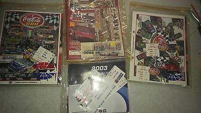 Nascar programs, tickets, autographsm and more lot of 4