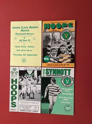 4 Shamrock R programmes from seasons 86/87 83/84 90/91 90s