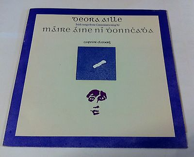 Maire Aine Ni Dhonnchadha. Deora Aille. Claddagh records. CC6. Gatefold Lp.