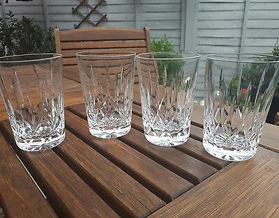 Set of four stunning lead cut crystal tumblers ref 12