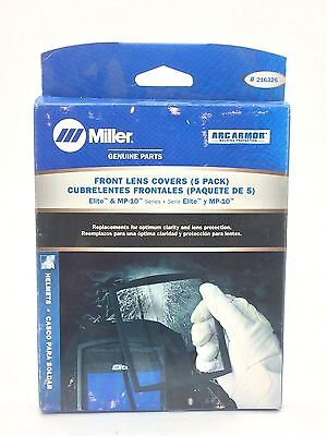 Miller 216326 Front Lens Covers for Elite & MP-10 Series (Pack of 5)