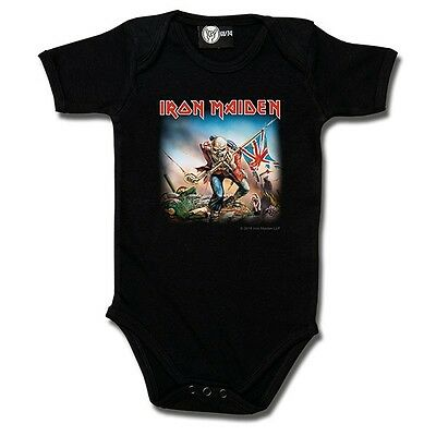 Licensed Iron Maiden Trooper baby band vest alternative goth rock punk metal