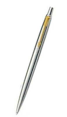 Free Ship Vector Stainless Steel CT (Gold Trim) Ball Pen 0.5mm Blue Ink-No Boxed