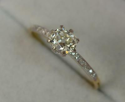 0.80ct Old Cut Diamond 18ct Gold Ladies Engagement Ring D0602