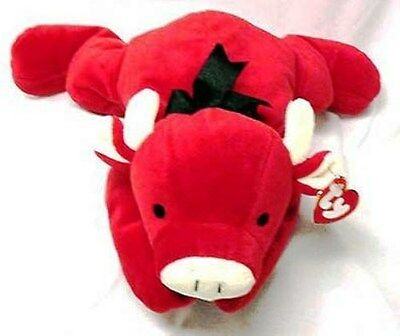 Ty  Pillow Pal - Red The Bull - Nwt